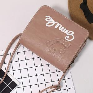 Smile Cross Body Flap Bag - PINK