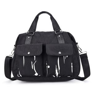 Nylon Splashed Ink Paint Handbag