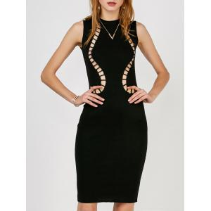 Cut Out Tank Sweater Fitted Dress