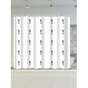 Mermaid Print Polyester Waterproof Shower Curtain - White - 180*200cm