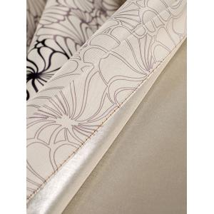 Floral Embroidery Fabric Grommet Top Blackout Curtain - Bonbon Beige 100*200cm