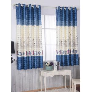 Screening Blackout Window Curtain Panel For Bedroom - Blue - 100*200cm