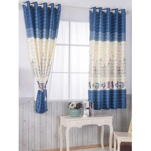 Screening Blackout Window Curtain Panel For Bedroom - BLUE 100*200CM