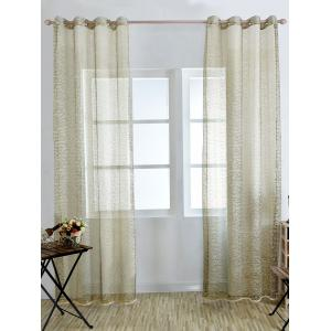 European Style Sheer Tulle Curtain For Living Room - Palomino - 100*250cm