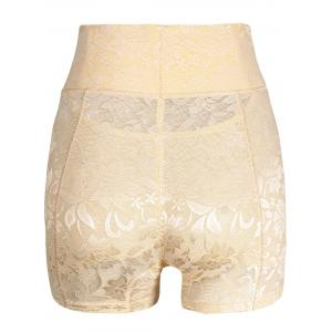 High Waisted Lace Panties Boyshorts -