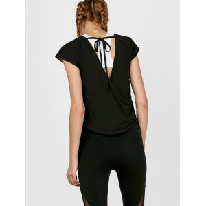 Self Tie active Surplice Top - Noir M
