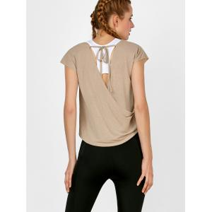 Self Tie active Surplice Top -