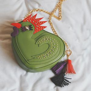 Chicken Shaped Tassel Crossbody Bag -