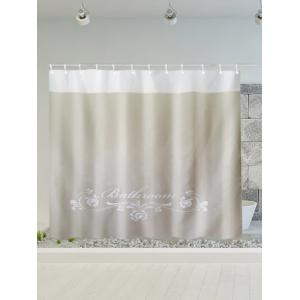 Floral Print Polyester Waterproof Shower Curtain