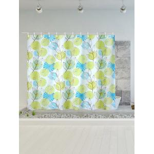 Plant Print Polyester Waterproof Shower Curtain