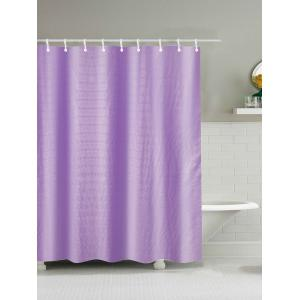 Cross Grain Polyester Waterproof Shower Curtain