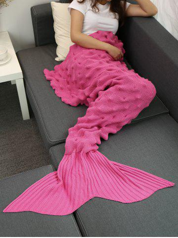 Cheap Yarn Knitted Wrap Throw Mermaid Tail Blanket - ROSE MADDER  Mobile