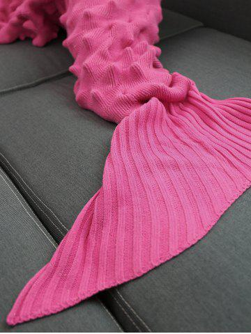 Online Yarn Knitted Wrap Throw Mermaid Tail Blanket - ROSE MADDER  Mobile