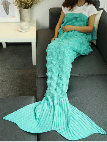 Fils tricoté Wrap Throw Mermaid Tail Blanket Pers 150*90CM