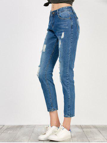 Outfits High Rise Distressed Jeans - S BLUE Mobile