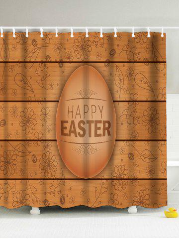 Fashion Easter Water Repellent Anti-Bacterial Shower Curatin - 180*180CM LIGHT BROWN Mobile