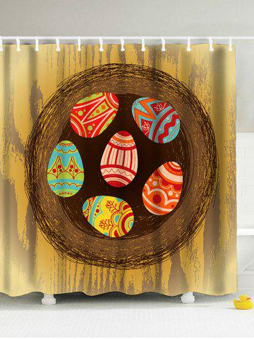 Buy Easter Decoration Colorful Eggs Shower Cuartin - Ginger 150*180CM