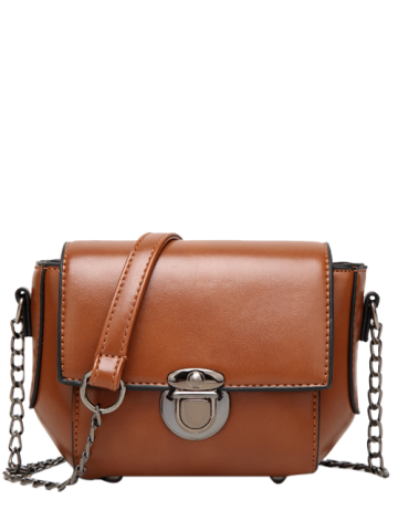 Trendy Metal Detial Mini Cross Body Bag