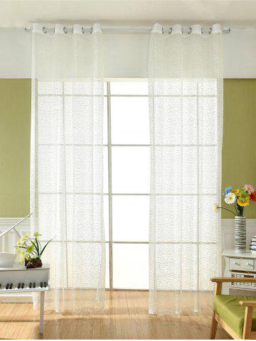 Trendy European Style Sheer Tulle Curtain For Living Room - 100*250CM WHITE Mobile