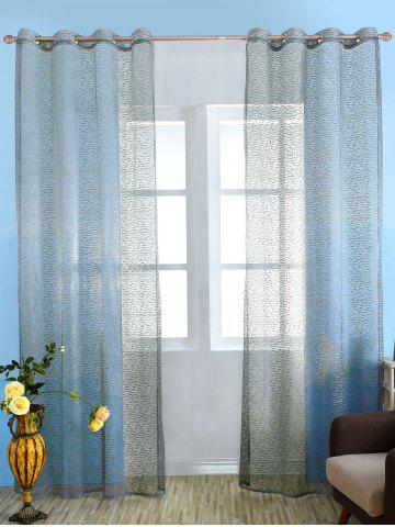 Hot European Style Sheer Tulle Curtain For Living Room GRAY 100*250CM