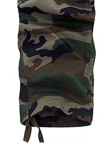 Unique Camouflage Multi Pockets Army Cargo Pants - 36 ARMY GREEN Mobile