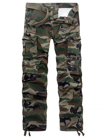 Shop Camouflage Multi Pockets Army Cargo Pants - 36 ARMY GREEN Mobile
