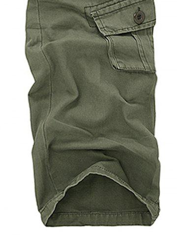 Best Pockets Design Military Cargo Pants - 29 ARMY GREEN Mobile