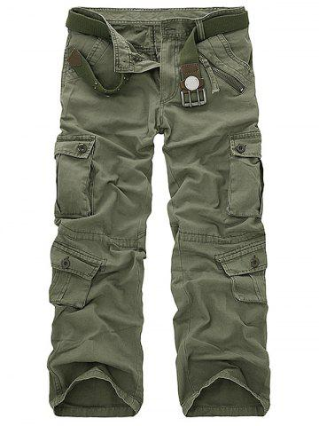 Hot Pockets Design Military Cargo Pants - 29 ARMY GREEN Mobile