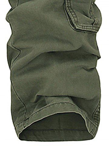 Affordable Pockets Design Slimming Cargo Pants - 33 ARMY GREEN Mobile