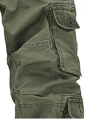Discount Pockets Design Slimming Cargo Pants - 33 ARMY GREEN Mobile