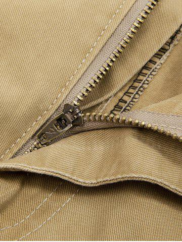 Shops String Embellished Multi Pocket Cargo Pants - 38 KHAKI Mobile