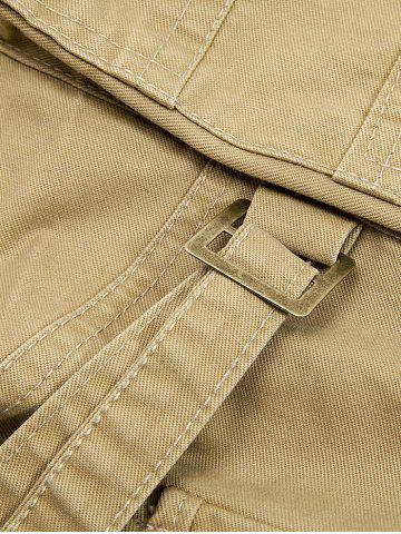 Store String Embellished Multi Pocket Cargo Pants - 38 KHAKI Mobile