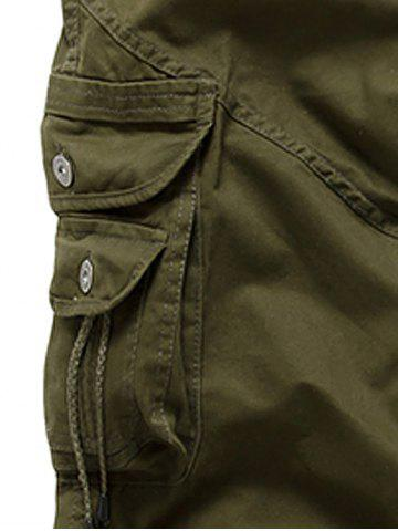 Best String Embellished Multi Pocket Cargo Pants - 30 ARMY GREEN Mobile