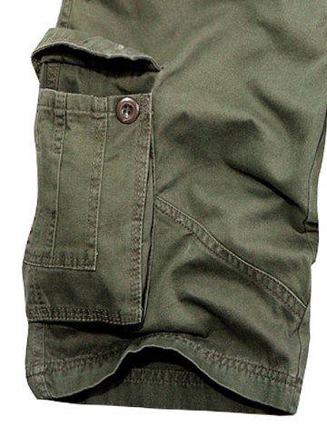 Online Multi Pockets Zipper Fly Cargo Shorts - 31 ARMY GREEN Mobile