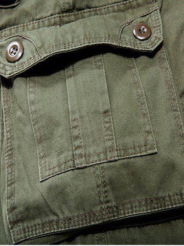 Online Multi Pockets Zipper Fly Cargo Shorts - 34 ARMY GREEN Mobile