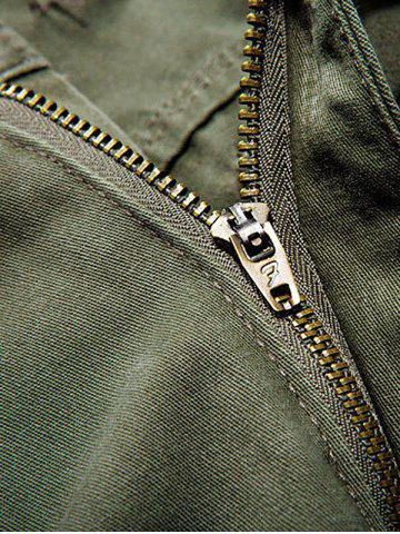 Discount Multi Pockets Zipper Fly Cargo Shorts - 36 ARMY GREEN Mobile