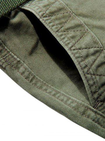 Online Multi Pockets Zipper Fly Cargo Shorts - 36 ARMY GREEN Mobile