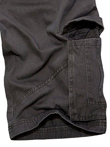 Trendy Multi Pockets Zipper Fly Cargo Shorts - 33 DEEP GRAY Mobile