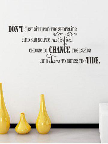 Removable Don't Sentences Quote Personalised Vinyl Wall Sticker - Black - 57*22cm