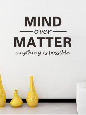 Removable Letters Mind Over Matter Personalised Vinyl Wall Stickers - Black - 57*14cm
