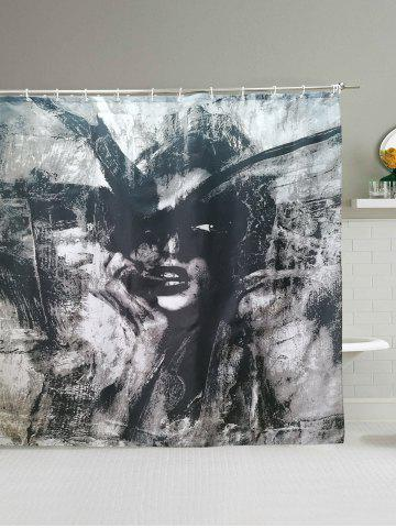 Beauty Abstract Painting Polyester Waterproof Shower Curtain
