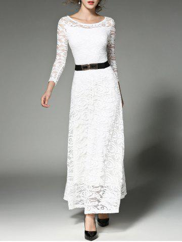 Affordable Prom Maxi Wedding Evening Dress with Lace - S WHITE Mobile