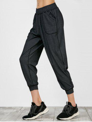 Online Sporty Joggers Pants With Pockets - M GRAY Mobile