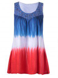 Plus Size Lace Trim Long Tank Top -