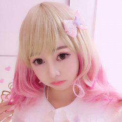 Harajuku Kawaii Medium Full Bang Gradient Lolita Cosplay Wig