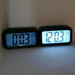 Snooze Backlit LED Digital Alarm Clock - BLACK