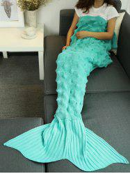 Yarn Knitted Wrap Throw Mermaid Tail Blanket