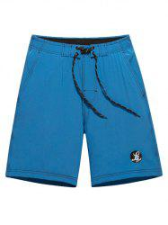 Tie Front Graphic Board Shorts