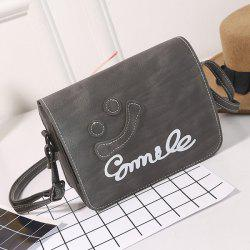 Smile Cross Body Flap Bag - GRAY