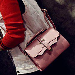 Metal Detail PU Leather Cross Body Bag